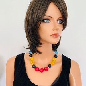 Necklace Bold Heads Multicolors Translucent Fun